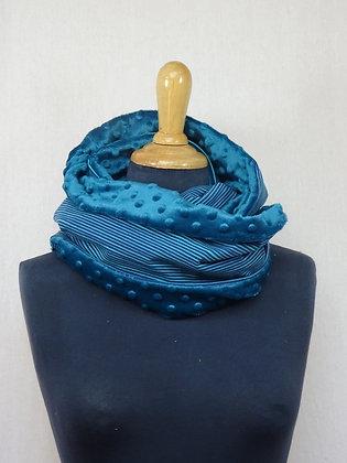 Snood rayures bleues
