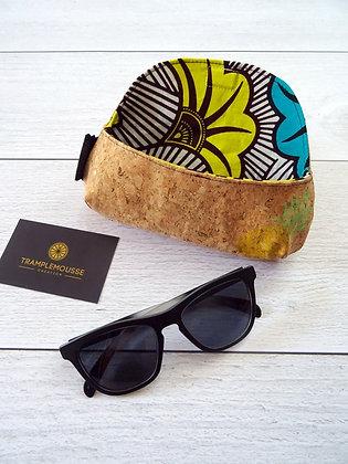 Étui à lunettes wax et ananas