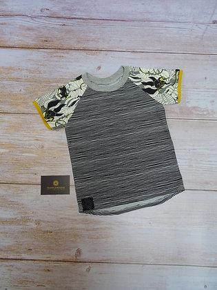 T-shirt bébé singe jaune