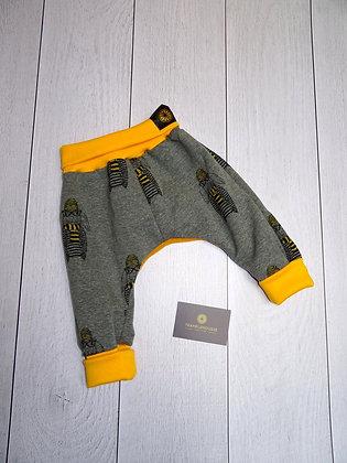 Sarouel bébé sweat lapin jaune