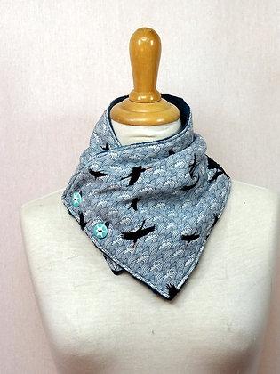 Col écharpe motif Japonais