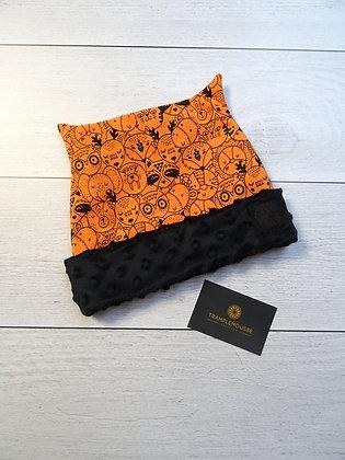 Bonnet enfant animaux orange