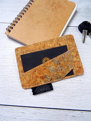Porte-carte Seigaiha argenté