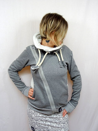 Veste Sweat gris beige