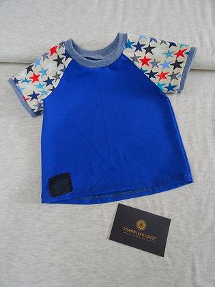 T-shirt bébé étoiles bleu