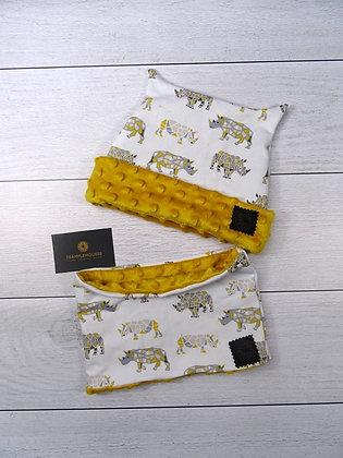 Bonnet et snood Rhinocéros