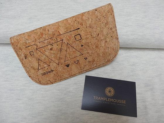 Blague à Tabac liège, motif triangles