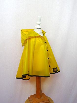 Cape de pluie petit chaperon jaune