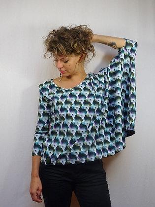 T-shirt asymétrique coloré