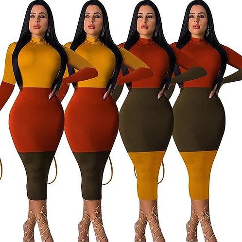 Tri-Color Body Dress