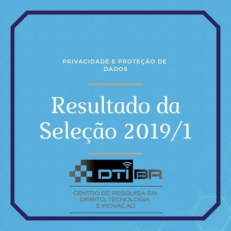 Resultado da Seleção 2019/1 para o Grupo de Estudos DTI