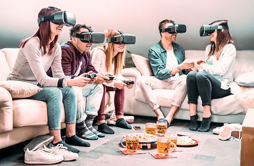 friends-playing-with-vr-headset-at-home-