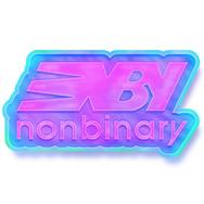 ENBY (New Balance Logo Parody) - Enamel Pin Design