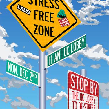Stress Free Zone - Flyer