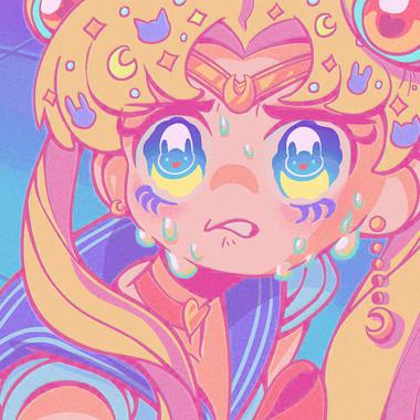 Fanart - Sailor Moon Screenshot Redraw