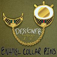 Designer Eyebags - Enamel Collar Pins