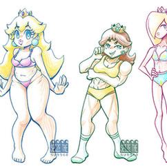 Body Type Study - Mario Girls