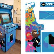 Code Ninjas Arcade Cabinet Decals Design