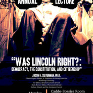 Constitutional Democracy Lecture - Flyer