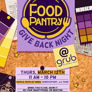 Food Pantry Give Back Night - Flyer