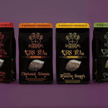 Dodger Coffee Co. Breakfast Black Teas - Package Design