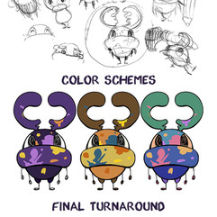 Character Design Process - Splot the Beetle