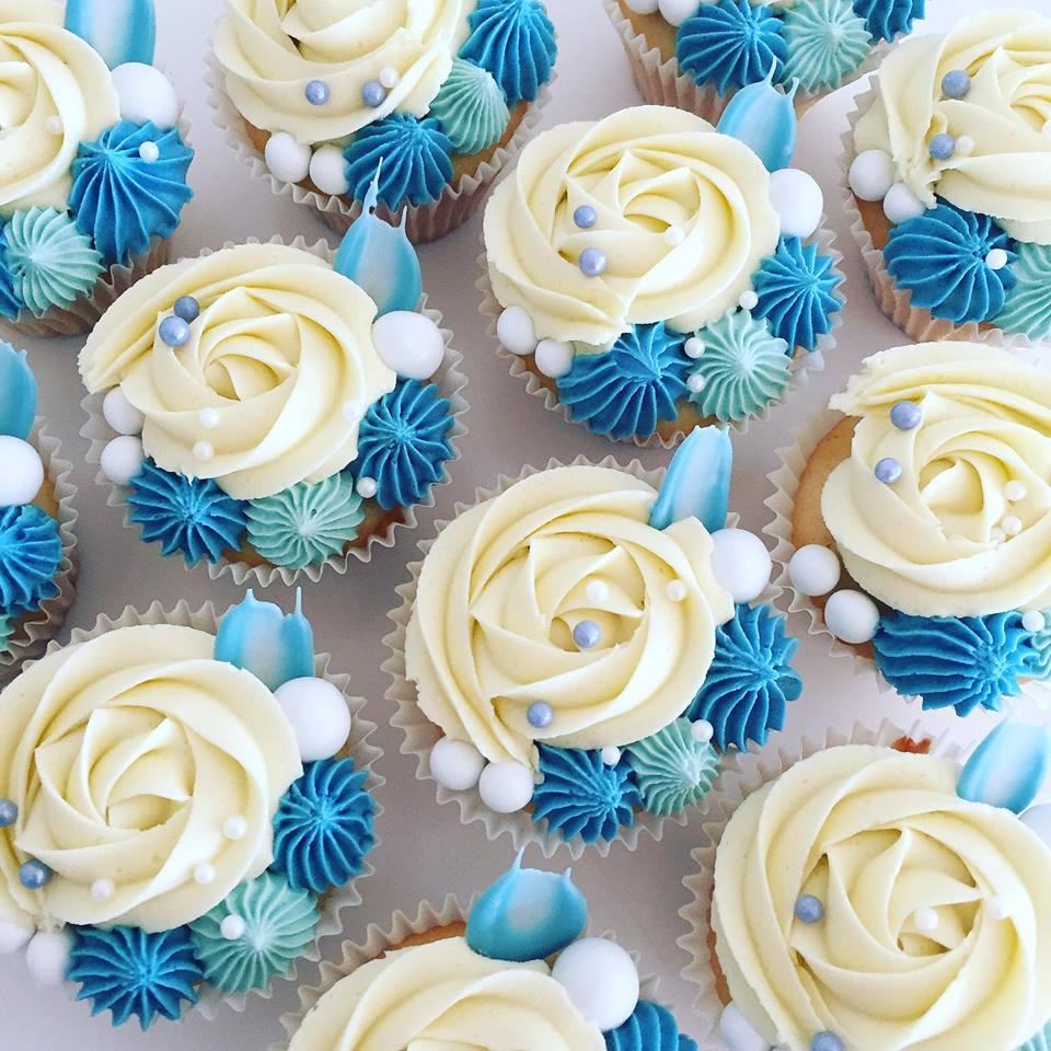 Blue signature cupcakes