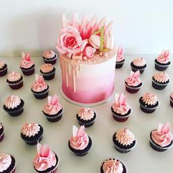 Cake & Mini Cupcakes Set