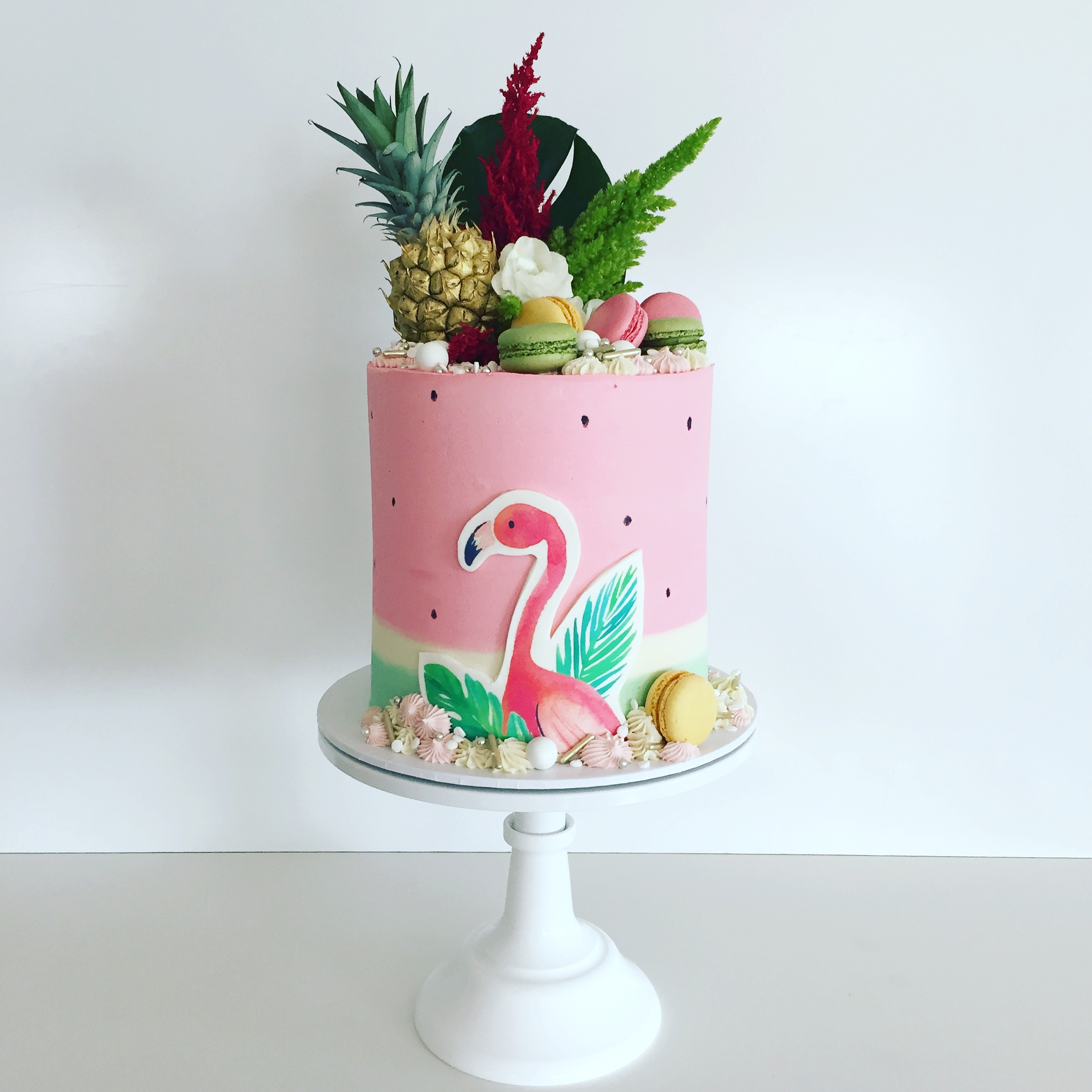 Flamingle Summer Party Cake