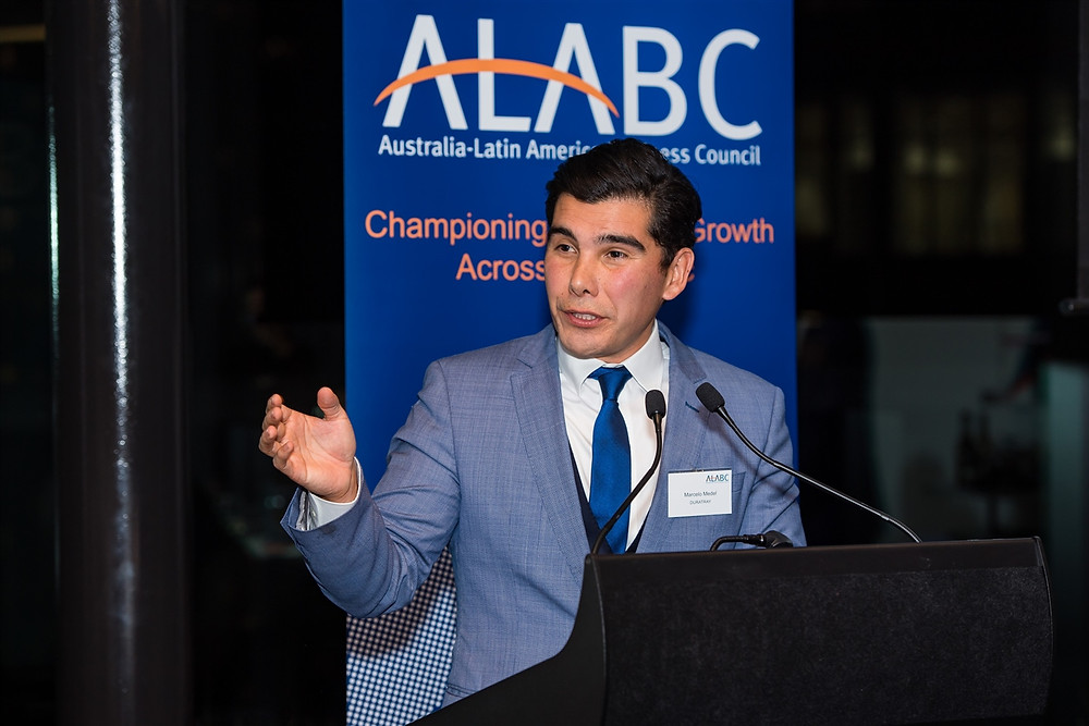 Duratray International Managing Director Marcelo Medel at ALABC annual dinner