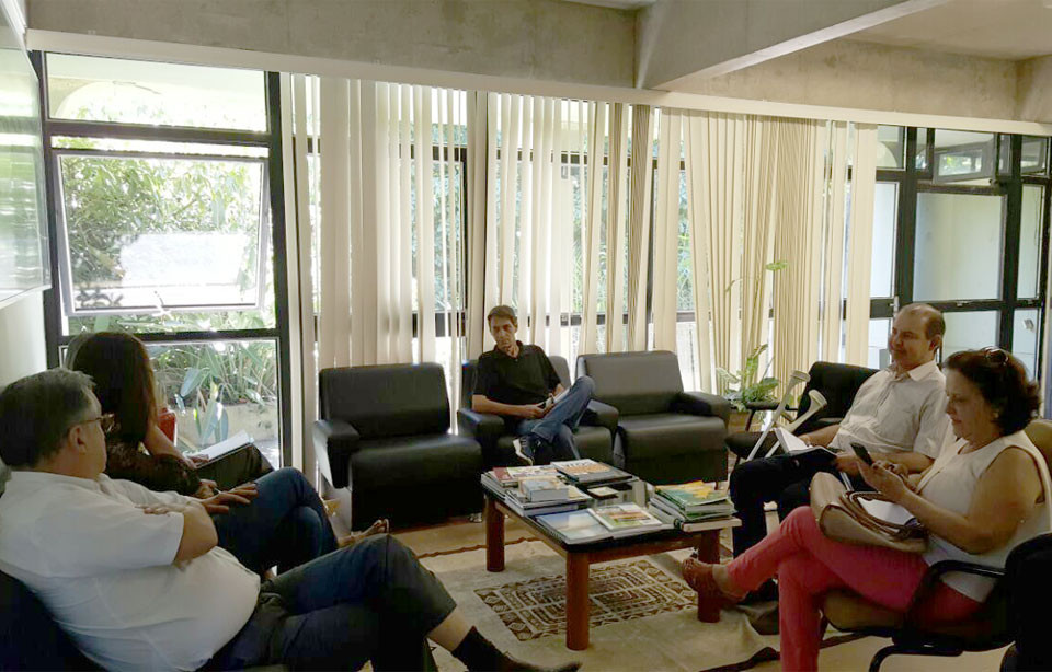 Reunião com secretário da Sepaf e representante da SAD