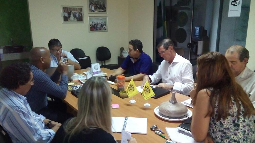 Entidades sindicais em reunião com a Fersep.