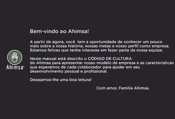Bem vindo ao Ahimsa