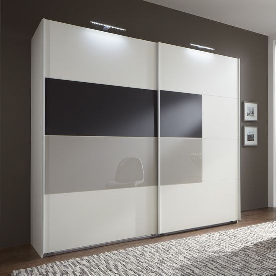 Lacquered glass wardrobe