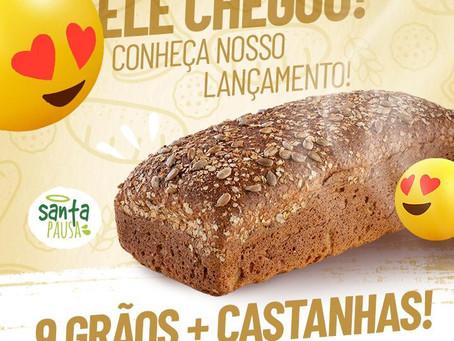 Lançamento Santa Pausa: pão 9 grãos + Castanhas