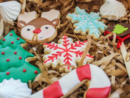 Biscoitos de Natal decorados para fazer com as crianças