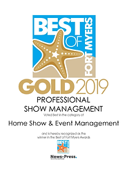 GOLD WINNERS - FORT MYERS -Home Show2019