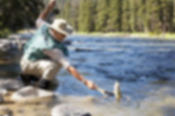 Man fishing in Terrace BC