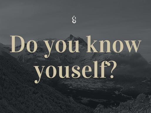 Be self-aware