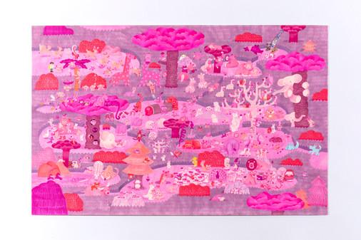 ピンクの森 原画