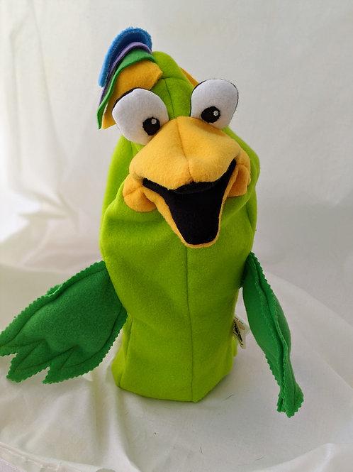 Green Bird Puppet