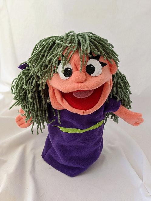 Girl with purple dress