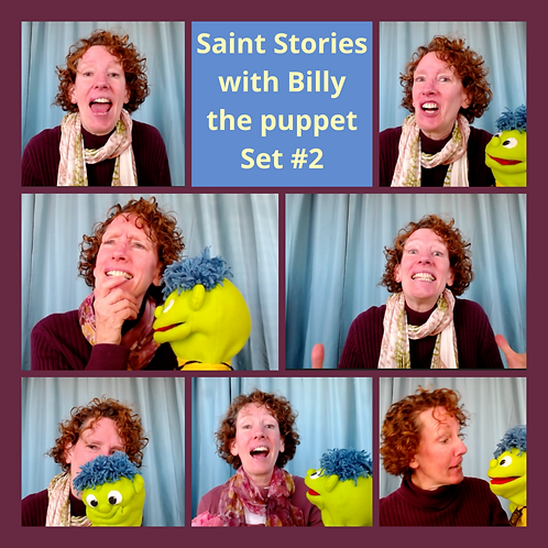 Saint Stories with Billy the puppet Set #2