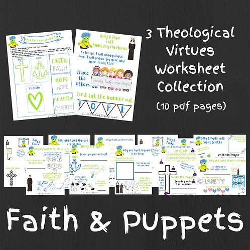 3 Theological Virtues worksheets