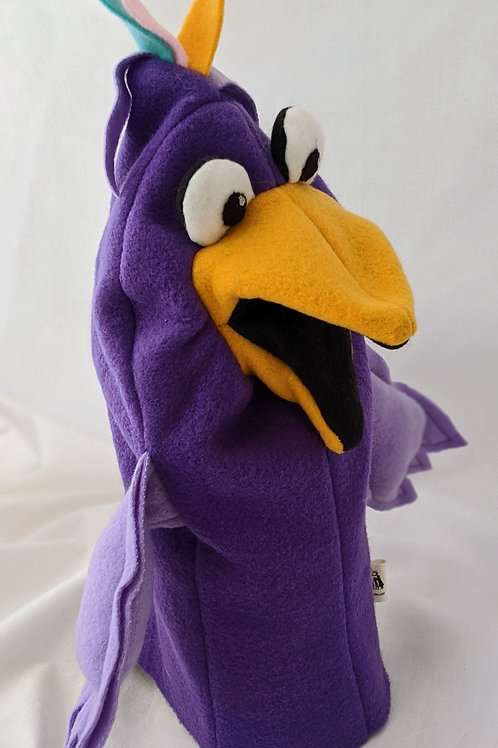 Purple Bird Puppet