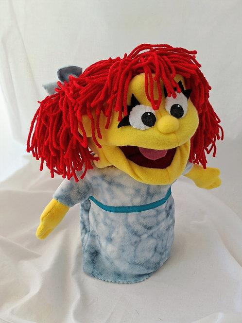 Red headed girl puppet