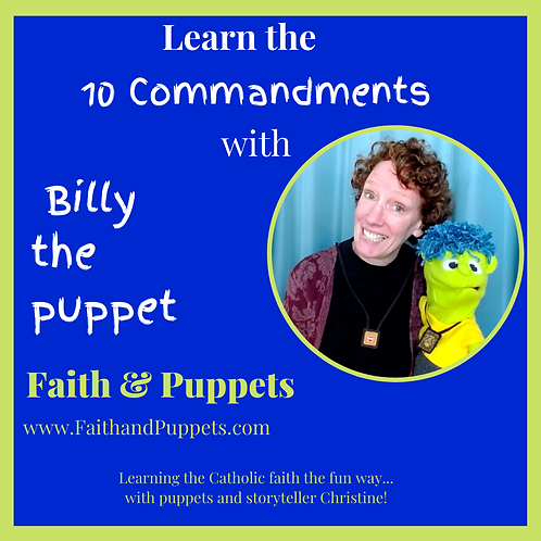 THUMB DRIVE: Learning the 10 Commandments with Billy the puppet (11 videos)