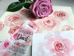 Rosen aquarellieren