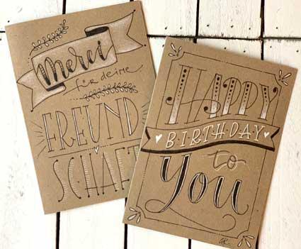 Kalligrafie Karten selber gestalten