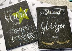 Kalligrafiekurs Girls am Werk